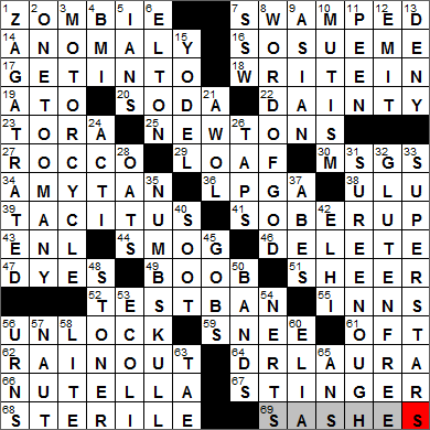York Times Crossword Answers 25 January 2014 Saturday