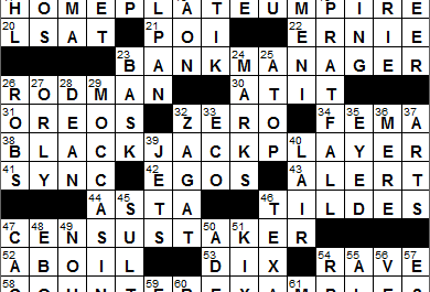 New York Times Crossword Answers 21 Apr 14, Monday