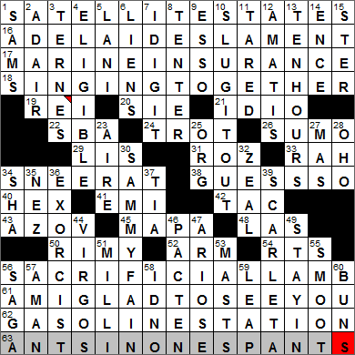 New York Times Crossword Answers 4 Apr 14, Friday