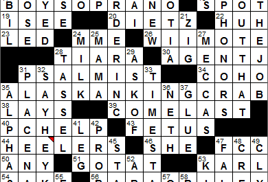 New York Times Crossword Answers 3 May 14, Saturday