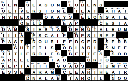 New York Times Crossword Answers 4 May 14, Sunday