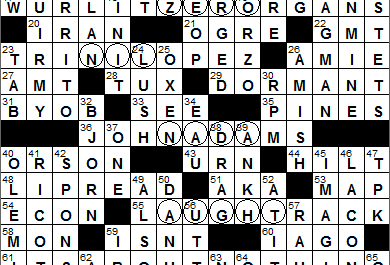 New York Times Crossword Answers 5 May 14, Monday