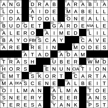 photo relating to New York Times Crossword Printable Free Sunday titled Refreshing York Instances crossword Options sunday Mini Free of charge Printable